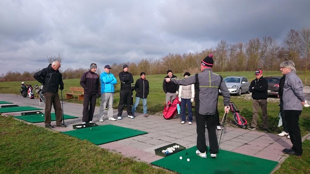 Wintertraining im Golfclub Ansbach