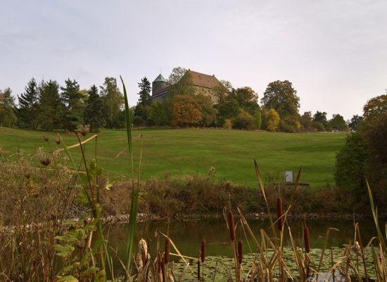 Blick über Teich auf Burg_1024